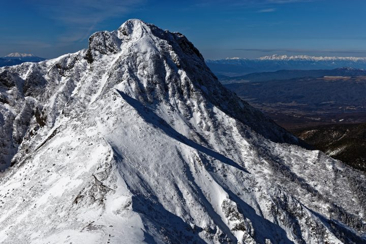 Snow-capped mountains in Japan's central Alps mountain range