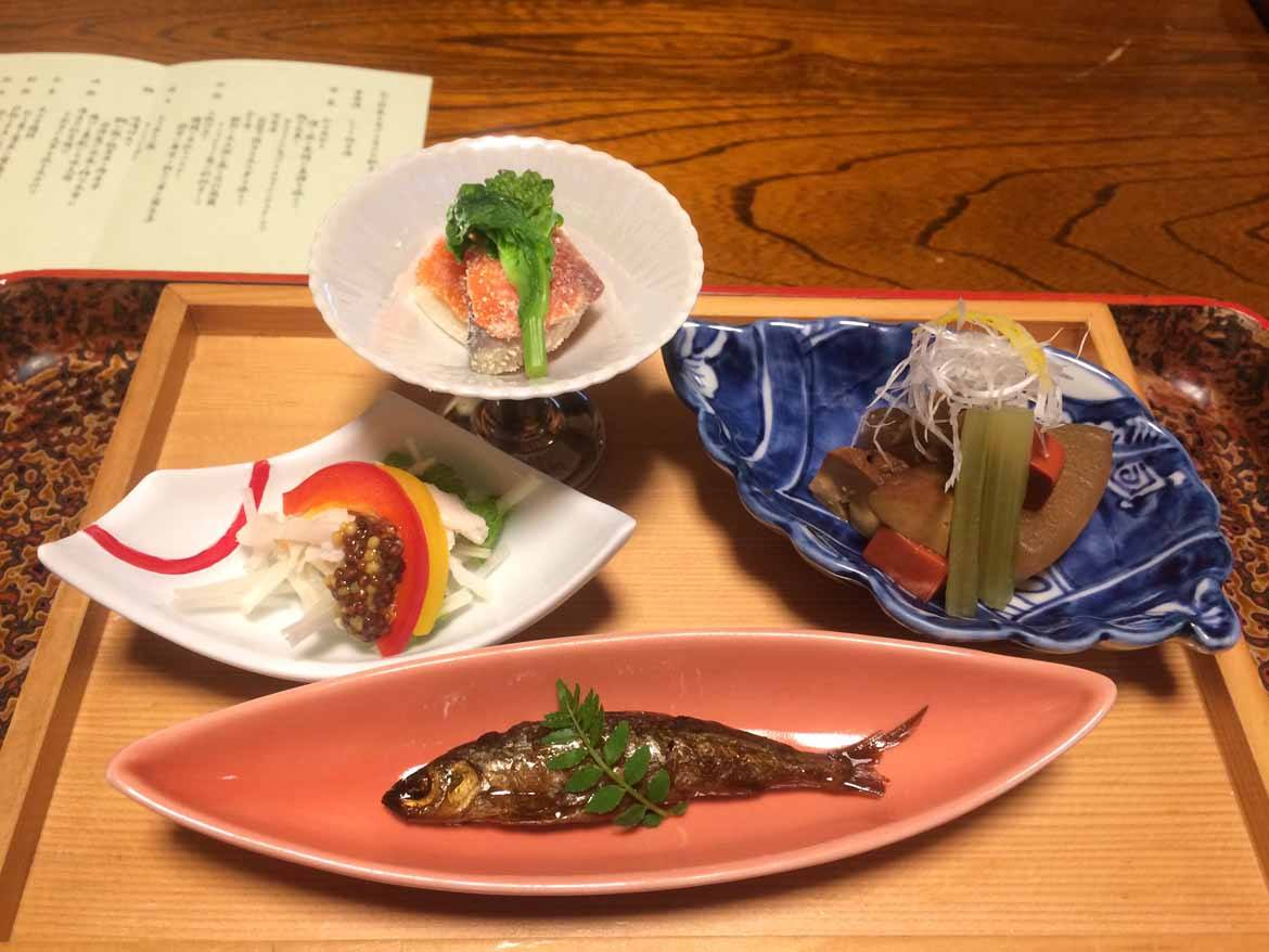 Dinner in Arima Onsen: a highlight of my stay