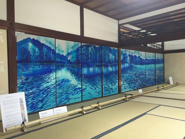 Modern fusuma art by Toba Mika at Kennin-ji
