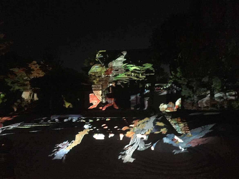 Light up projection mapping at Kodai-ji temple