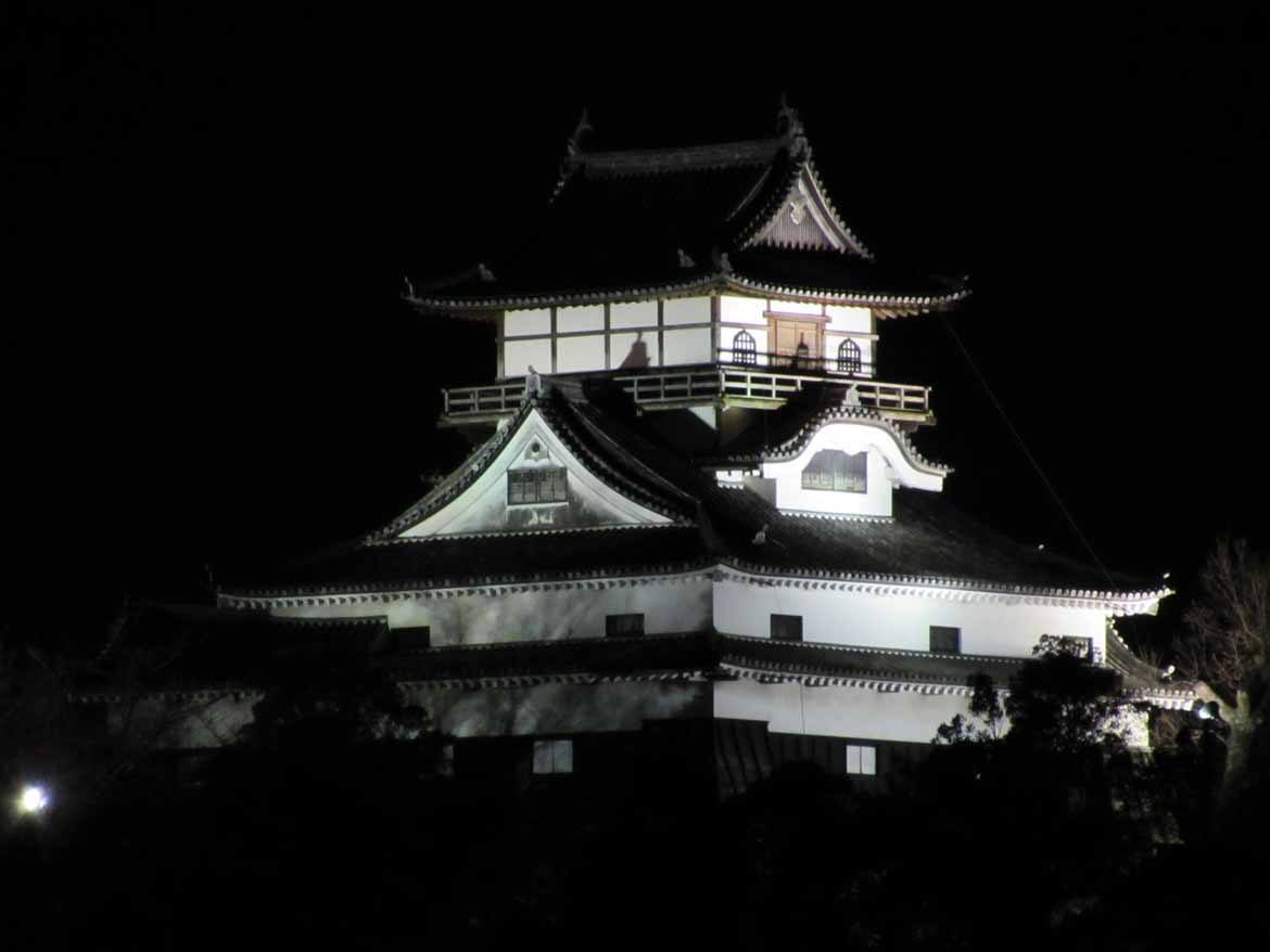 Inuyama Castle at night