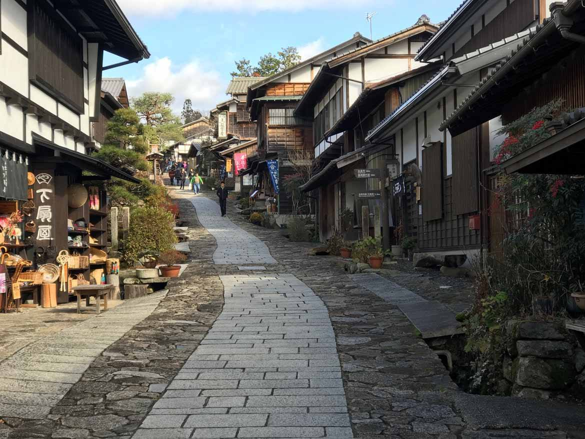Magome-Juku. This post town was built on a hill, which is said to be rare.