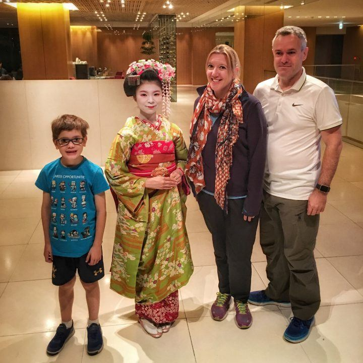 Family holiday in Tokyo and Kyoto - The Furner family meet a Geiko in-training
