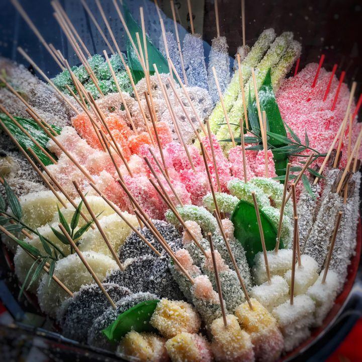 Japanese sweet stall with sugary lollies