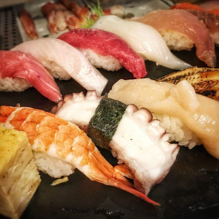 Japanese sushi with fish
