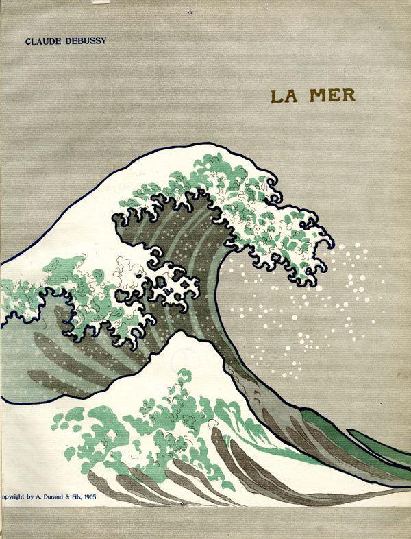 Cover of Claude Debussy La Mer manuscript