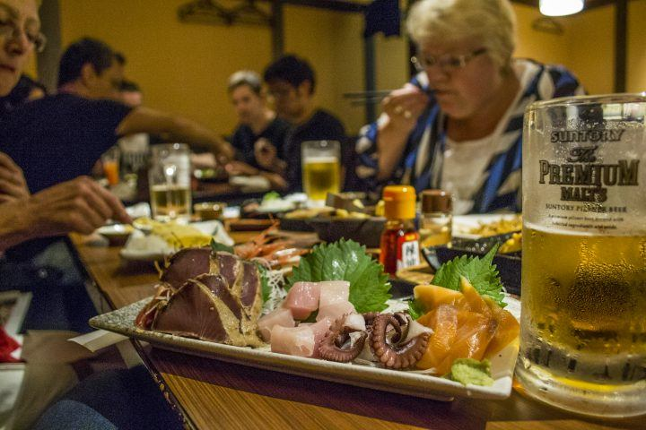 Plate of food at an Izakaya, Japan