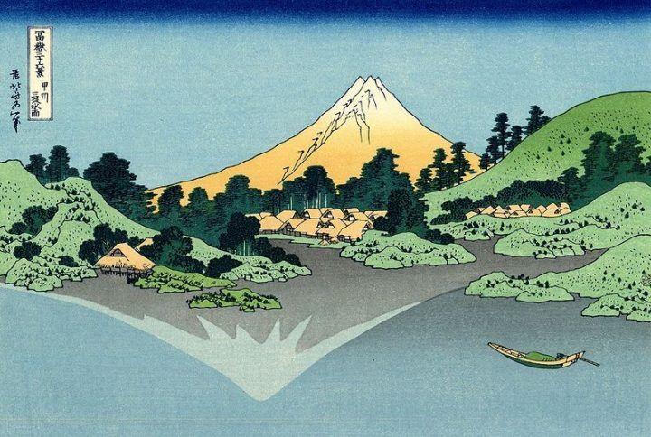 Misaka Suimen by Katsushika Hokusai