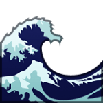 Apple Wave Emoji, inspired by Hokusai