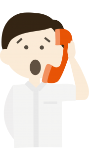 Illustration of a man on the phone