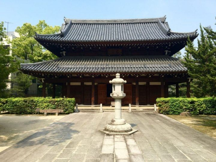 The main hall at Jojenji Temple, Fukuoka, Japan
