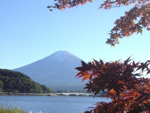 Fuji Five Lakes, Autumn leaves in Japan