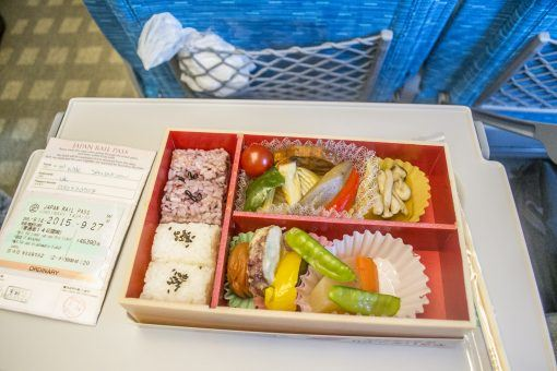 Bento box on the bullet train