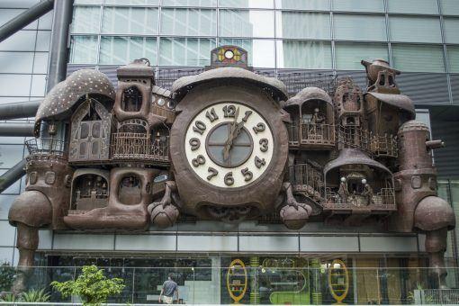 Studio Ghibli clock in Tokyo