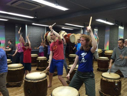 Taiko drumming is much more fun in a group tour as a solo traveller