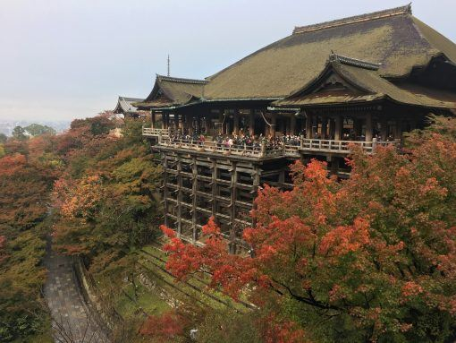 Kiyomizudera Autumn leaves in Japan