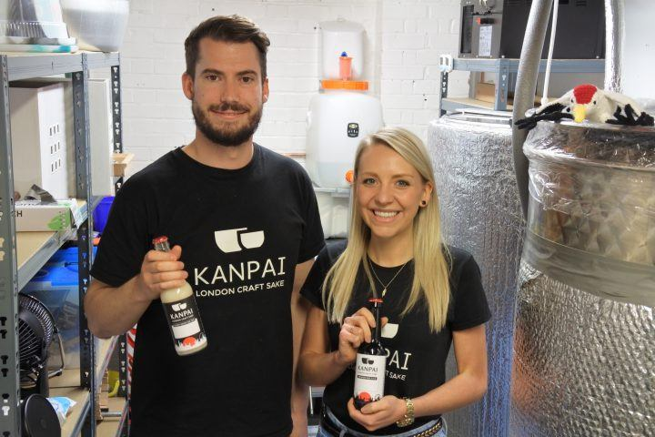 Tom and Lucy Wilson in their Microbrewery, Kanpai in Peckham