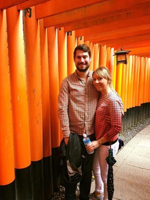 Tom and Lucy Wilson, founders of Kanpai microbrewery, in Kyoto