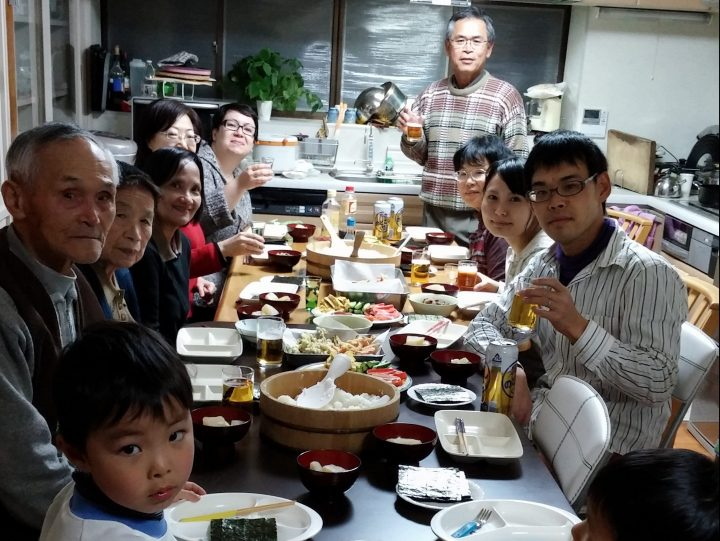 Dinner at a Japanese homestay