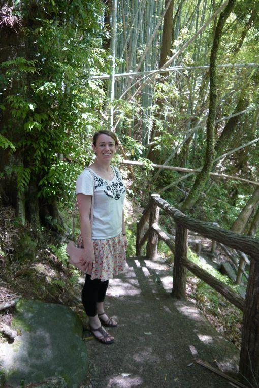 Sophie strolling through the Kawazu Waterfalls, Izu Peninsula, Japan