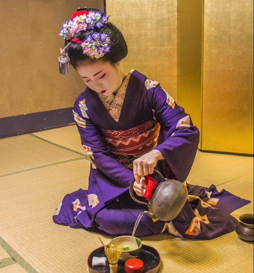 Tea ceremony with a maiko in Japan
