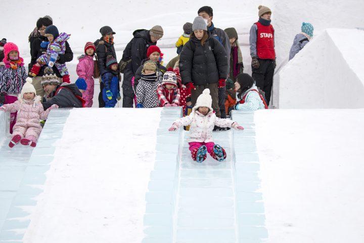 Tsudome at the Sapporo winter festival