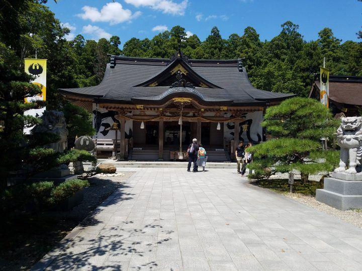 Kumano Hongū Taisha on the Kumano Kodo trail