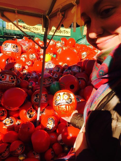 Lots of dolls at the Daruma Festival in Kawagoe