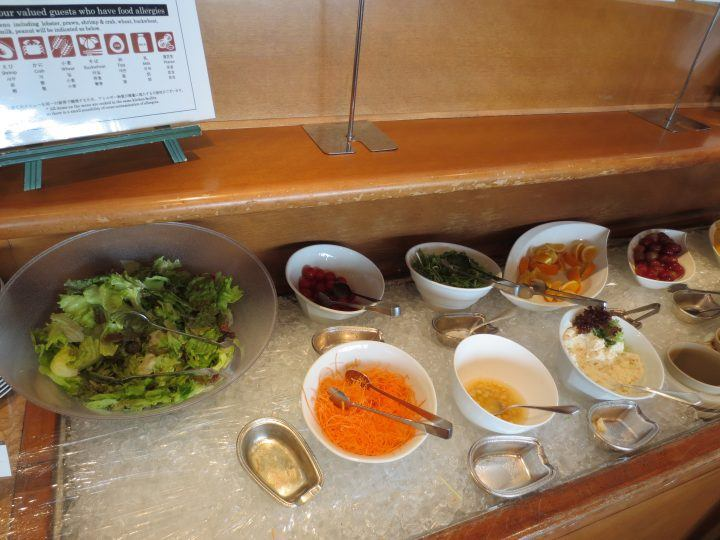 Salad bar at a hotel breakfast in Japan