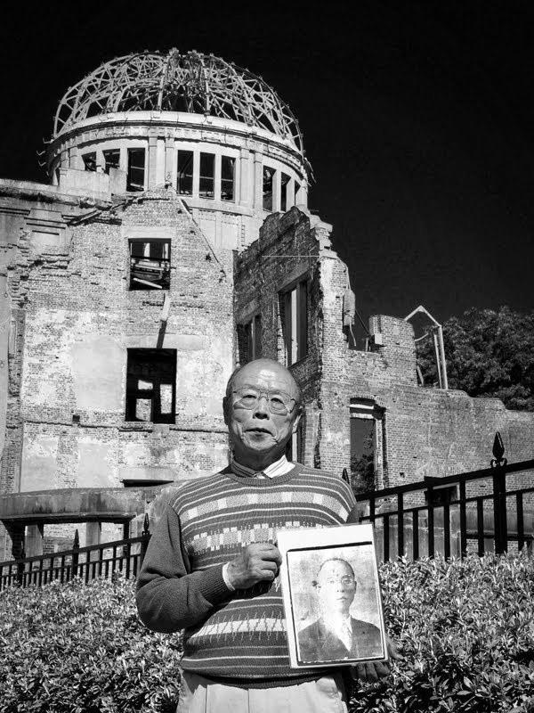 Family member of the atomic bomb in Hiroshima
