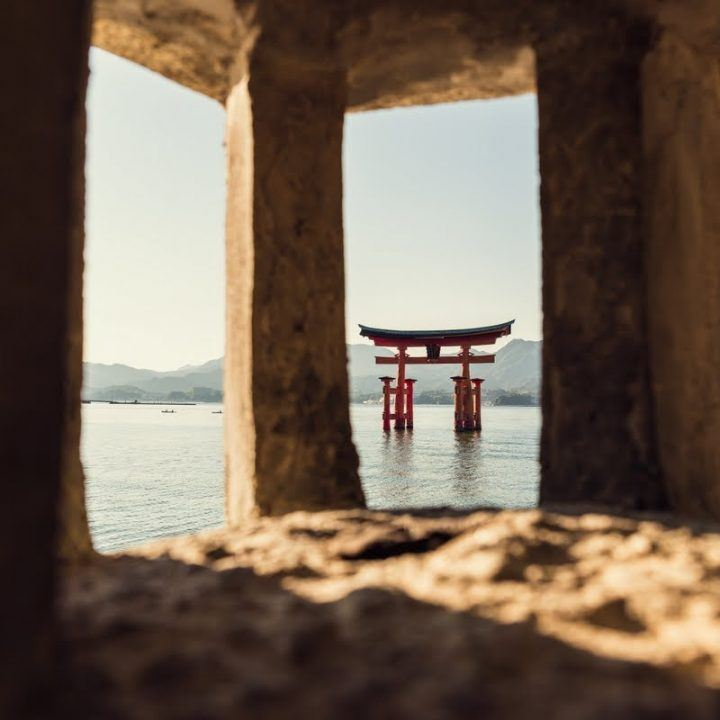Miyajima torii gate on a photography tour in Japan