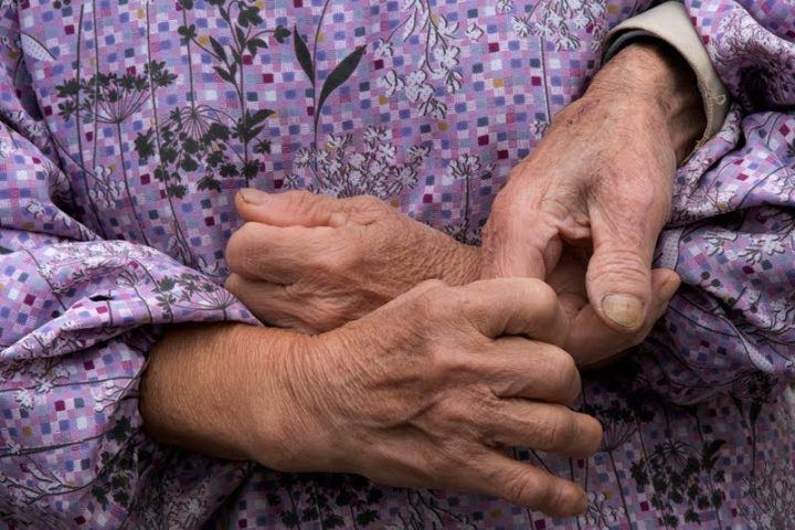 Elderly hands photographed in Hiroshima