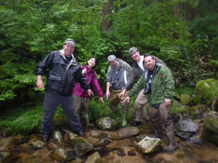 A group in search of the Japanese giant salamander