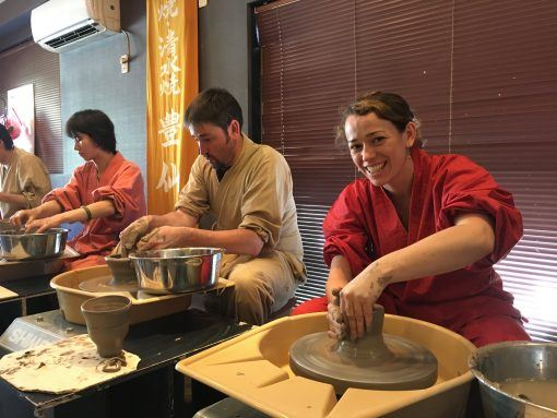 Pottery class in Kyoto, Japan