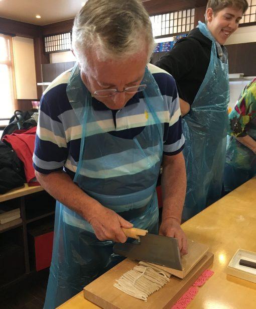 Soba noodle making in Japan
