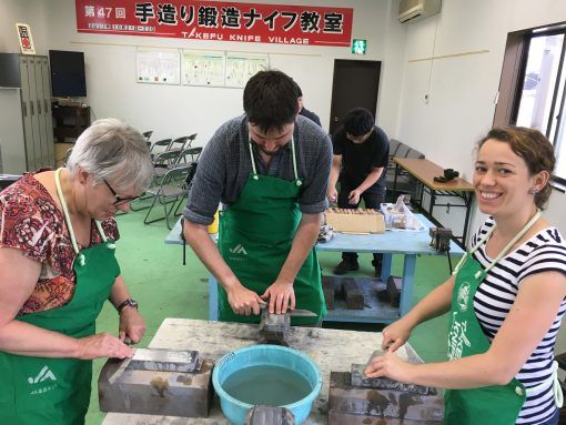 Activities in Japan - knife sharpening