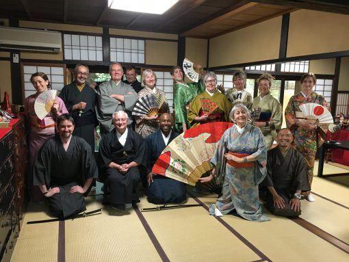 Kimono wearing in Kyoto, Japan