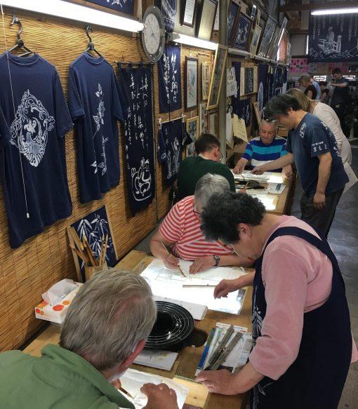 Activities in Japan - Roketsu dyeing in Kyoto