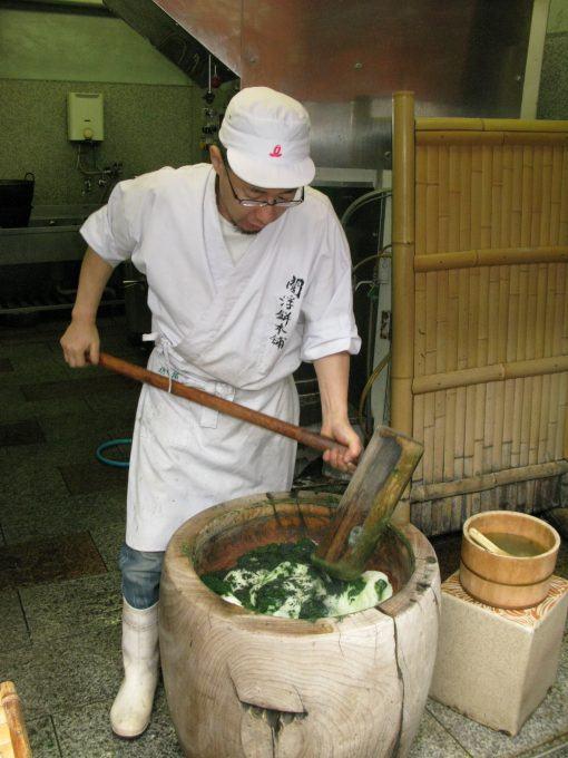 Pounding mochi in Japan
