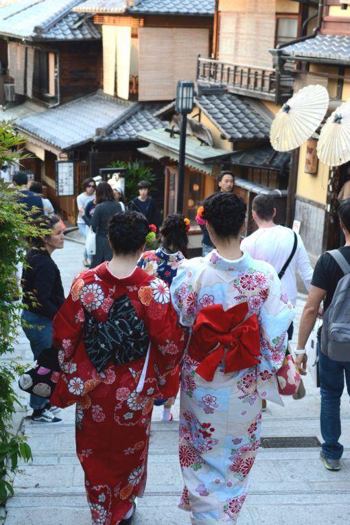 Women in kimono in Kyoto