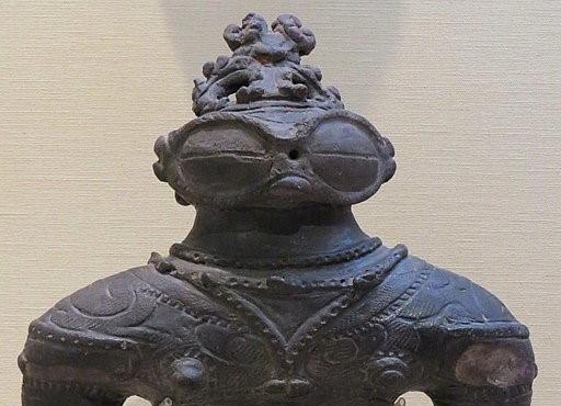 Stone statue from the Jomon period