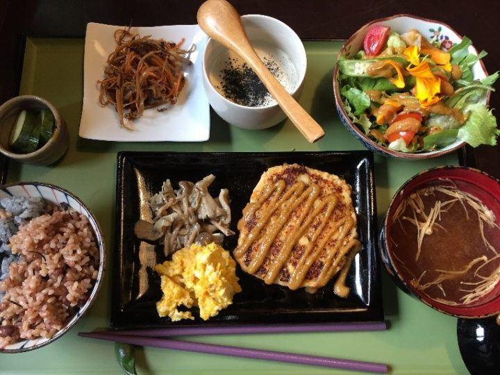 Vegan Soy-Meat Hamburger lunch Set (Kyoto)