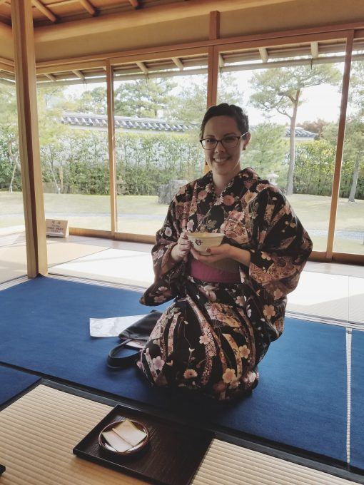 Shayna Silva, female solo traveller, Himeji Kimono