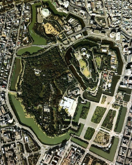 Imperial Palace layout, Tokyo, Japan