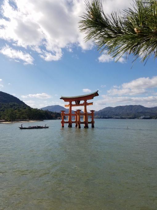 Itsukushima Shrine torii gate, Miyajima, Japan