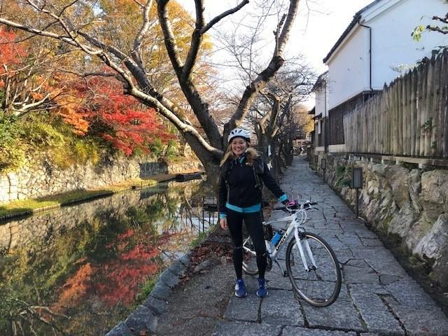 Susie Chan endurance runner on Nakasendo Way in Japan