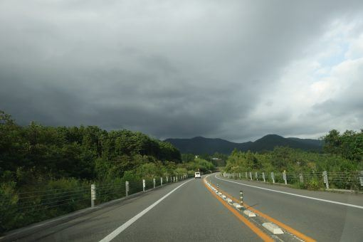 Driving in Japan road