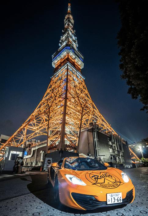 Supercars in Tokyo, Japan