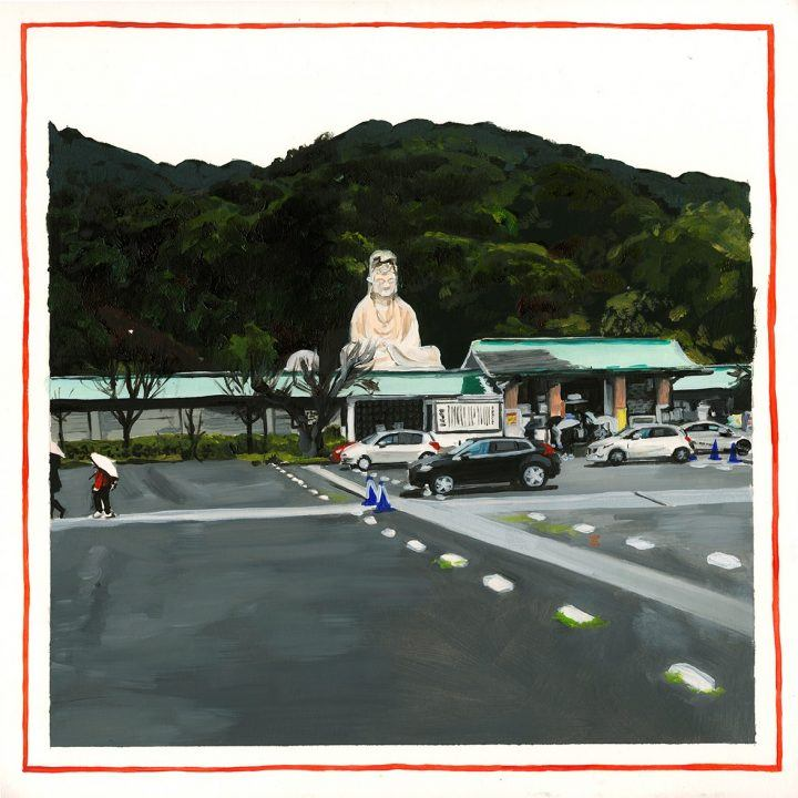Paintings of Japan: Alice Tye, Mono No Aware series, Kyoto parking lot