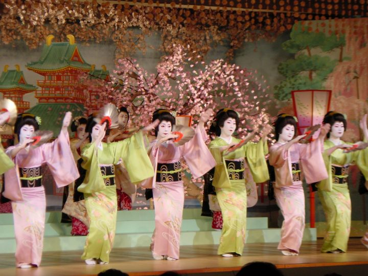 Geisha dances
